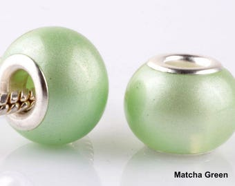 Gorgeous Silver Plated Pearl Murano Spacer Beads