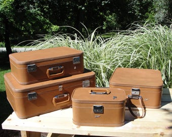 Vintage Skyway Luggage Set, Late 50's early 60's