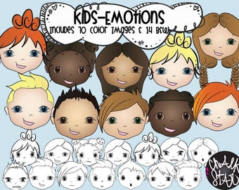 Kids Emotions Clipart
