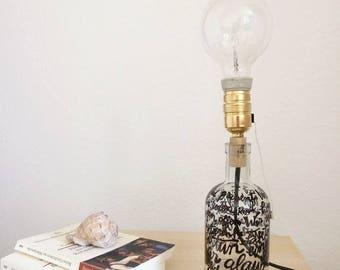 Bottle lamp w/ personalized message
