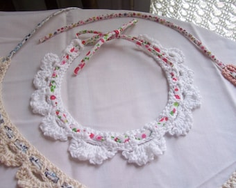 "Romantic ""Sea and Feel"" collar necklace - white"