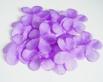 SET OF 10 LARGE SILK ACCESSORIES-WEDDING - PURPLE LILAC FLOWERS