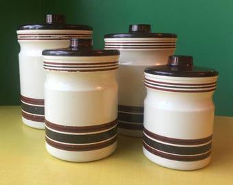 Vintage - Tin Canister Set
