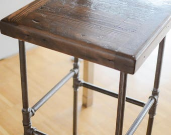 Bar stool, reclaimed wood
