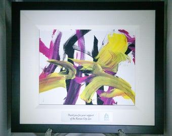 Purple and Yellow Orangutan Painting