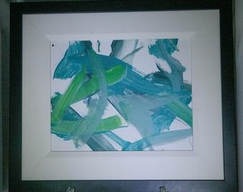 Green and Blue Orangutan Painting