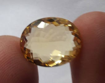 1 Piece, 100% Natural Citrine Oval Shape Faceted cut, Citrine Faceted Oval Cut, Loose Gemstone Beads, 15x14mm Size