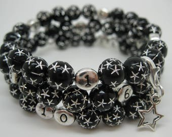 Nursing treasure bracelet black star