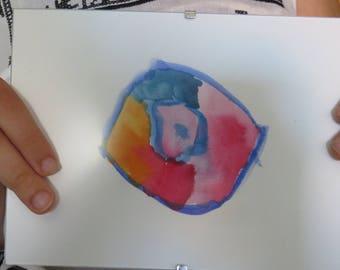 "Framed watercolor ""seashell"""