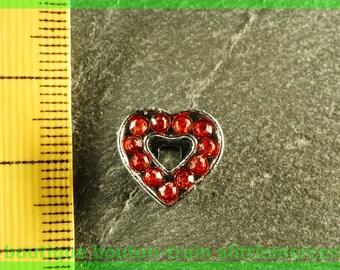 Pearl Heart busy N1 full rhinestone bracelet