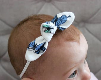Fabric bow dainty headband