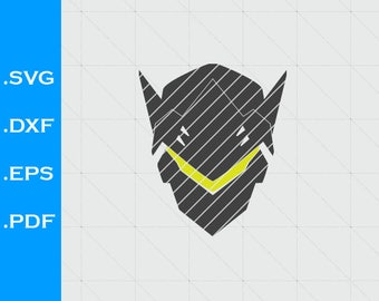 Overwatch Genji, Inspired, logo,  SVG, Clipart, EPS, DXF, for decals, Vector, pdf, Silhouette Studio, scal, pdf, sure cuts a lot