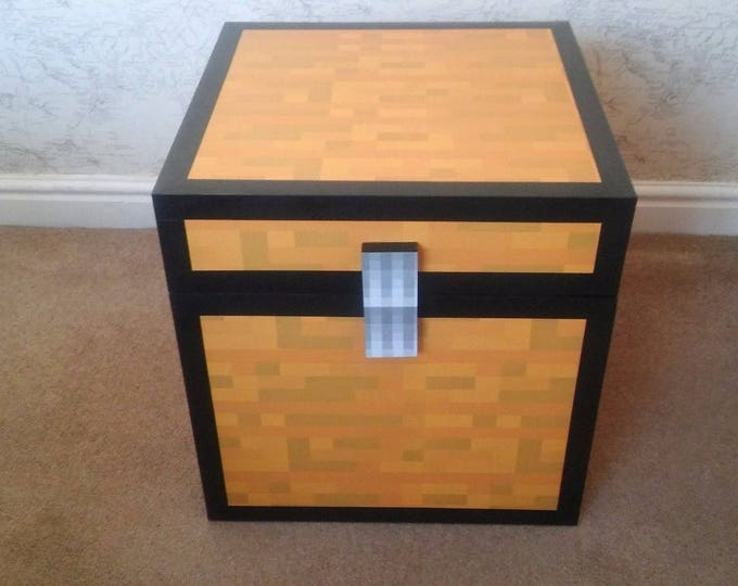 Minecraft Style Large Chest Ideal Kids Children's Toy Box Storage
