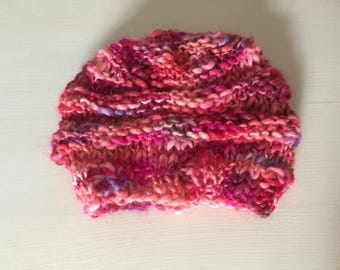 Toddler Girls Hat made with Misti Alpaca Yarn. Winter is coming! Great Christmas gift!