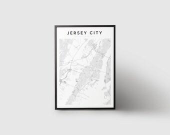 Jersey City Map Print