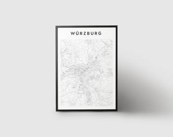Würzburg Map Print