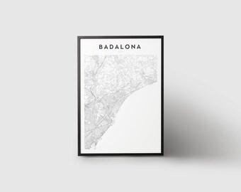 Badalona Map Print