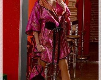 "tunic dress / kimono ""fuchsia"""