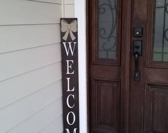Create your own welcome sign, welcome sign, you design, vertical welcome sign, wood sign,  front door sign ,front porch sign , custom design