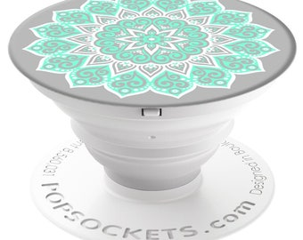 PopSockets For Phone Pop Socket Phone Grip Phone Stand Holder Peace Mandala Tiffany