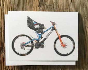 Cycling Card, Martyn Ashton, Canyon Sender, Mountain Bike Card, Bike Illustration