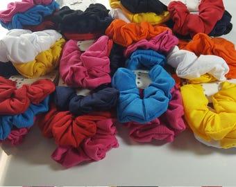 Lot 36 pcs of cotton Fabric Scrunchies Hair Multi-color .