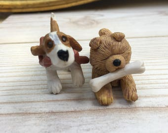 Puppy in my pocket, retro figurines, 90's collectibles, vintage toys