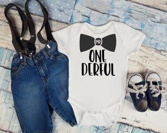 Mr. One-derful Onesie, Baby Boy, Baby Clothes, Baby Gift, Baby Shower, First Birthday
