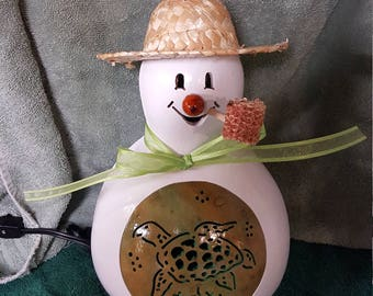 Sea Turtle Snowman Gourd Light