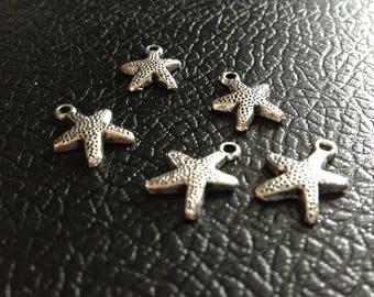 Starfish Tibetan silver charms