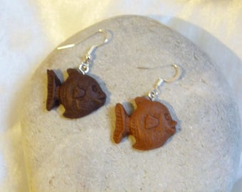 DELICIOUS CHOCOLATE FRIED FISH EARRINGS