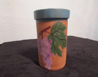Brick wine ceramic terracotta, turquoise