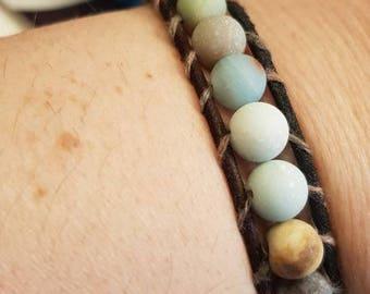 Handmade bracelet in amazonite