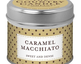Caramel Macchiato Tinned Candle (Country Candles)