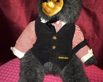 Plush Animal Numbered LE Robert Raikes MAX Wood Face Collectible Teddy Bear
