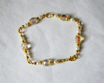 White bracelet, romantic transparent