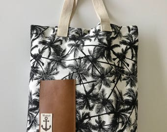 Palm-tree tote bag