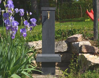 Zinc GLADIOLUS 0.8 Misterzinc garden fountain