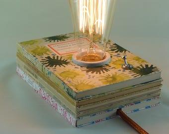 """Book lamp """"Tartarin in the Alps"""""""