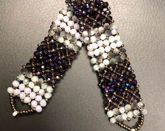 Purple Faded Bracelet Gem