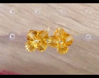Swarovski Crystal Gold Stud Earrings