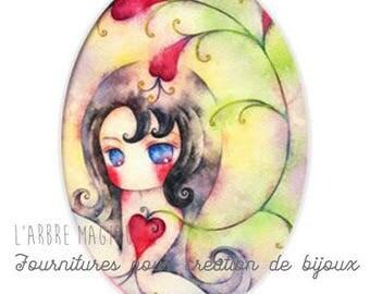 Oval cabochon 18 x 25 mm fairy magic fairy tale magic 1825c492