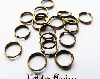 50 double ring bronze 8 mm