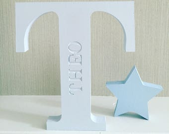 Star | wood | wooden | freestanding | gift | nursery | first Christmas | birthday | home decor | new baby | home gift | boy | girl