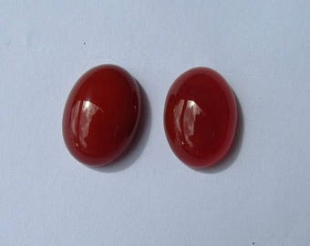 18x13mm 2 carnelian gemstone