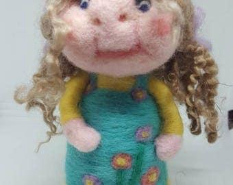 Hazel- needle felted doll