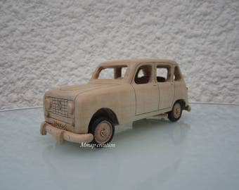 Miniature wood of a Renault R L 4 Maple 1/24 scale.