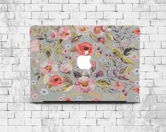 Flowers MacBook Pro 13 inch Hard case MacBook Air 13 inch vintage hard case MacBook Sleeve Laptop case MacBook 13 New Floral case MacBook 11