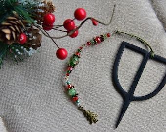 "Scissor fob, scissors pendant ""Christmas"", Cross stitch, gift. Scissors FOB"