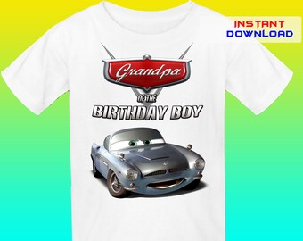 Grandpa, Cars Birthday Shirt Iron On Trnafer, Cars Iron On Transfer, Cars Birthday Shirt Design, Digital File Only, Instant Download